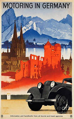 Photograph - Vintage Germany Travel Poster by George Pedro