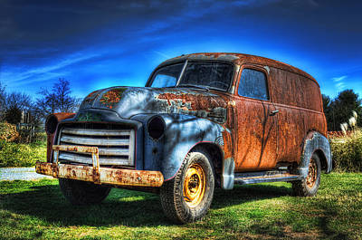 Vintage Gmc Art Print by Steve Hurt
