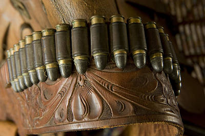 Vintage Holster And Bullets Art Print by Joel Sartore