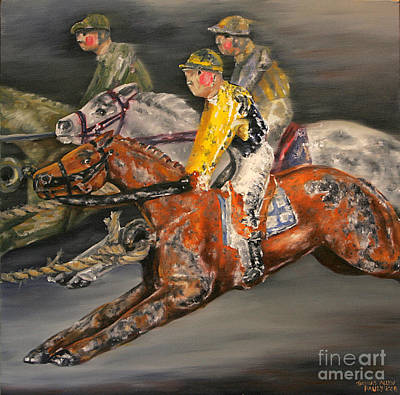 Jockey Painting - Vintage Horse Racing Toys by Thomas Allen Pauly
