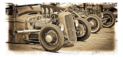 Photograph - Vintage Hot Rods by Steve McKinzie