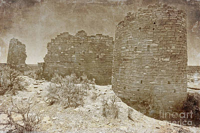 Vintage Hovenweep Castle Art Print by Bob and Nancy Kendrick