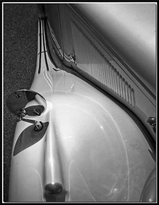 Photograph - Vintage Jag Details In Bw by Chris Anderson