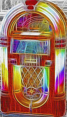Vintage Jukebox - Fractal Art Print by Steve Ohlsen