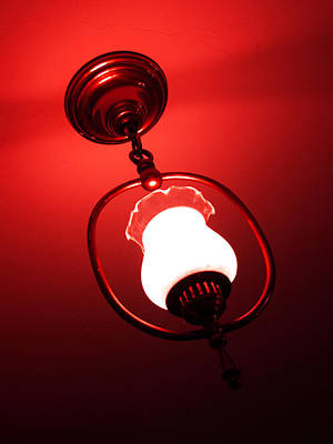 Photograph - Vintage Lamp In Crimson by Katherine Huck Fernie Howard