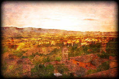 Photograph - Vintage  Landscape Florence Italy by Femina Photo Art By Maggie