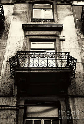 Photograph - Vintage Lisbon Balcony by John Rizzuto