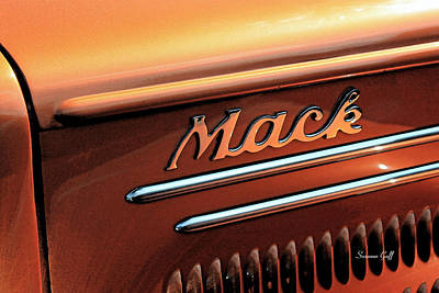 Antique Automobiles Photograph - Vintage Mack Truck II by Suzanne Gaff