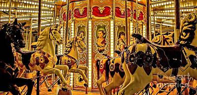 Photograph - Vintage Merry-go-round  by Alexandra Jordankova