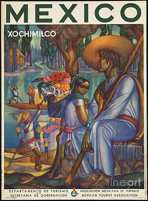Photograph - Vintage Mexico Travel Poster by George Pedro