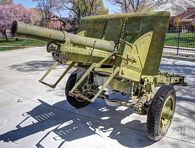 Vintage Military Howitzer  Art Print by Gary Whitton