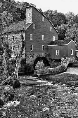 Country Scene Photograph - Vintage Mill In Black And White by Paul Ward