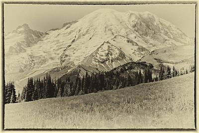 Photograph - Vintage Mount Rainier by David Patterson