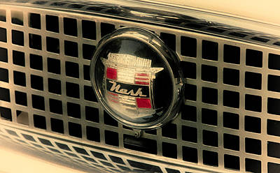 Photograph - Vintage Nash Auto Grill by Tony Grider