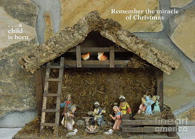 Photograph - Vintage Nativity by Renee Trenholm