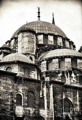 Istanbul Photograph - Vintage New Mosque by John Rizzuto