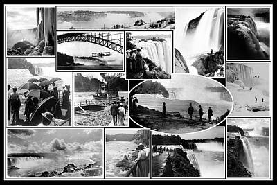 Photograph - Vintage Niagara Falls by Andrew Fare