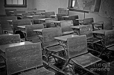 Photograph - Vintage Old School Classroom by Valerie Garner