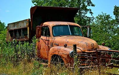 Art Print featuring the photograph Vintage Old Time Truck by Peggy Franz