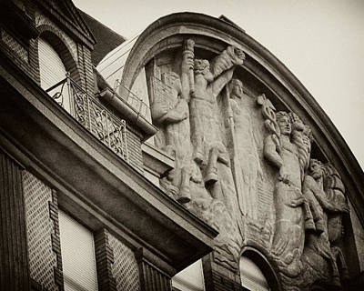 Photograph - Vintage Paris Building Facade by Tony Grider