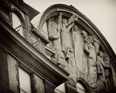 Photograph - Vintage Paris Building Facade by Tony Grider