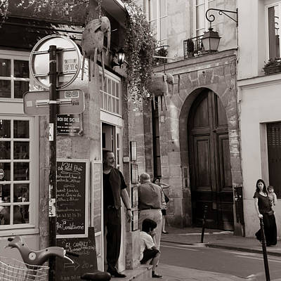 Photograph - Vintage Paris1 by Andrew Fare