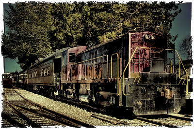 Train Tracks Photograph - Vintage Passenger Train IIi by David Patterson