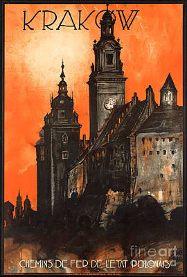 Photograph - Vintage Poland Travel Poster by George Pedro