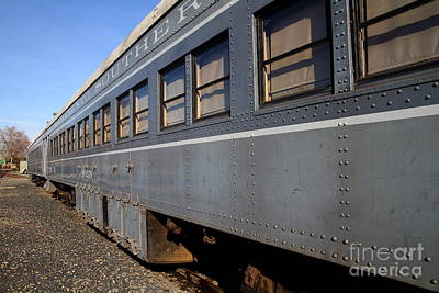 Vintage Railroad Trains . 7d11617 Art Print by Wingsdomain Art and Photography