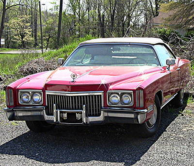 Photograph - Vintage Red Cadillac by Renee Trenholm