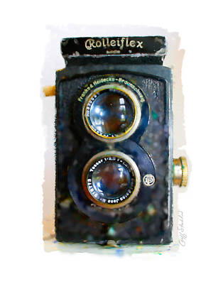 Digital Art - Vintage Rolleiflex Watercolor by Geoff Strehlow