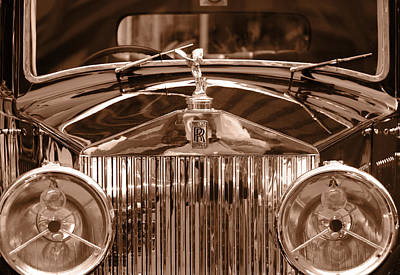 Photograph - Vintage Rolls Royce 3 by Andrew Fare