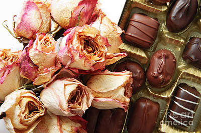 Photograph - Vintage Roses And Chocolates by Andee Design