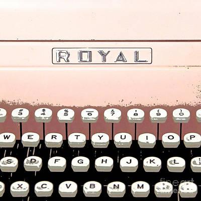 Vintage Royal Typewriter Art Print by Glennis Siverson