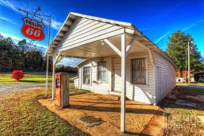 Vintage Rural One Pump Gas Station Art Print by Dan Carmichael