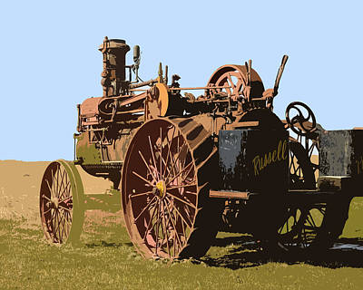 Photograph - Vintage Russell Tractor by Steve McKinzie