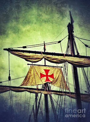 Maltese Photograph - Vintage Ship Masts And Rigging by Jill Battaglia