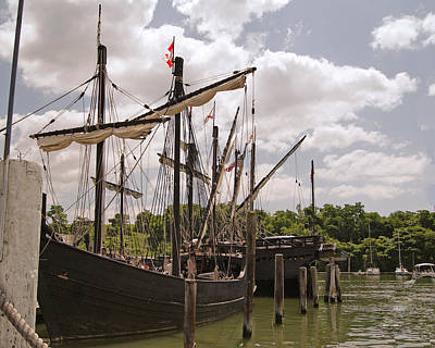 Photograph - Vintage Ships - Nina And Pinta by Margie Avellino