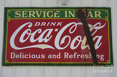 Coca-cola Signs Photograph - Vintage Sign Coca Cola by Bob Christopher