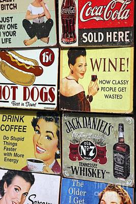 Hot Dogs Photograph - Vintage Signs by Sophie Vigneault