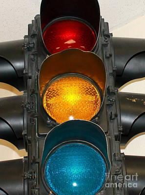 Photograph - Vintage Stop Light by Pamela Walrath