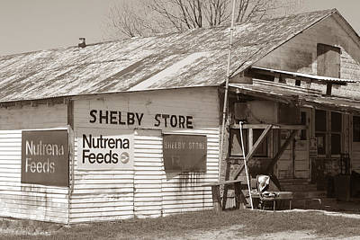 Photograph - Vintage Store In Shelby by Connie Fox