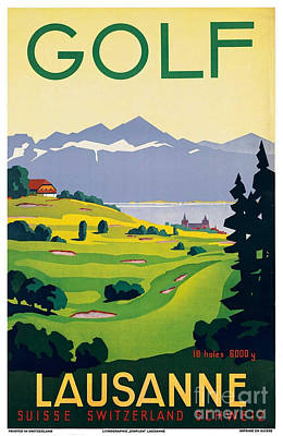 Painting - Vintage Switzerland Travel Poster by George Pedro