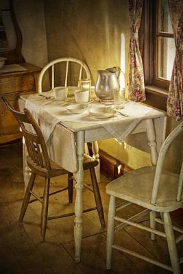 Vintage Table Setting Circa Rural 1880 No.3110 Print by Randall Nyhof