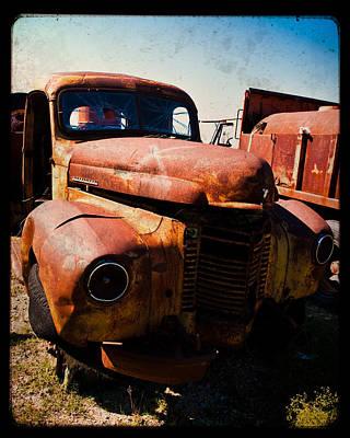 Vintage Truck In Ttv Art Print by Sonja Quintero