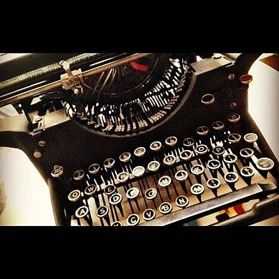 Typewriter Wall Art - Photograph - #vintage #typewriter Bought At #carboot by John Mcmurdo