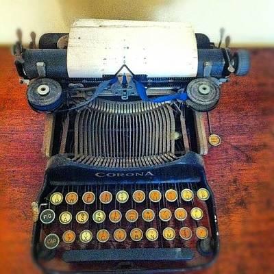 Typewriter Photograph - Vintage Typewriter by Brent McGilvary