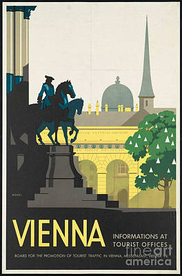 Photograph - Vintage Vienna Travel Poster by George Pedro