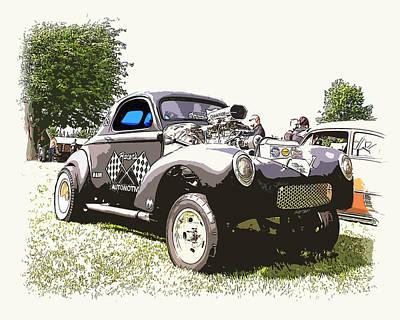 Vintage Willys Gasser Art Print by Steve McKinzie