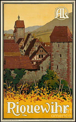Photograph - Vintage Wine Village Travel Poster by George Pedro